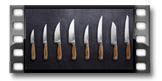 Nóż Santoku FEELWOOD 17 cm