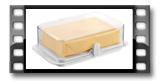 Zdravá dóza do chladničky PURITY, dóza na maslo veľká