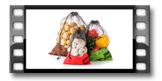 Síťky na potraviny 4FOOD, sada 3 ks