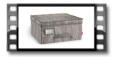 Kasten für Kleidung FANCY HOME 40 x 35 x 20 cm