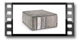 Caixa p/ arrumação FANCY HOME 40 x 52 x 20 cm