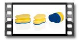 Geschirrschwämme CLEAN KIT, 3 St., für empfindliche Oberfläche