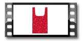Bolsa compra FANCY HOME, rojo