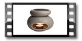 Queimador de óleos essenciais FANCY HOME, Stones