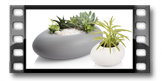 Vaso para plantas grande FANCY HOME Stones